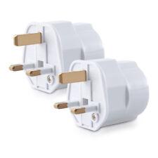 Adapter Stecker für England 2x Reiseadapter Reisestecker Stromadapter EU zu UK
