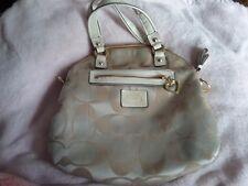 Coach Cream Lgt Khaki handbag w/Gold Accents # 21713