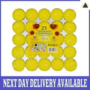 Price's Citronella Tealights Candles Mosquito Fly Insect Repeller Fragranced