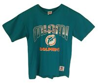 Vintage Miami Dolphins Nutmeg Mills T Shirt Men's Large NFL 1993 USA Made