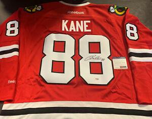 Patrick Kane Chicago Blackhawks Autographed Signed Jersey Red Reebok PSA DNA COA
