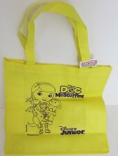 Disney Doc McStuffins yellow tote bag, for books, records, or shopping!
