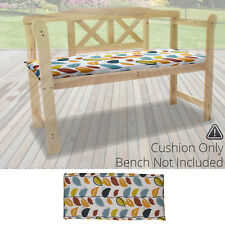 Culcita Garden Furniture Bench Cushion Valance Autumn Leaf 2 Seater 111cm X 46cm