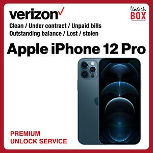 Verizon USA Unlock Service iPhone 12 Pro Max In Contract Unpaid Blacklisted Lost