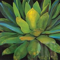 "30W""x30H"" AGAVE by JILLIAN DAVID DESIGN - TROPICAL FLESHY LEAVES FLORAL CANVAS"