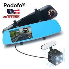 "5"" HD Car Rearview Mirror DVR Dual Lens Video Dash Cam Camera Night Vision 1080P"