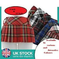 "9"" or 12"" Ladies Women Girls Tartan Mini Micro Pleated Skirt Kilt"