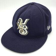 HELENA BREWERS Hat Ball Cap New Era 5950 Size 7 1/8  59Fifty 45290 Baseball