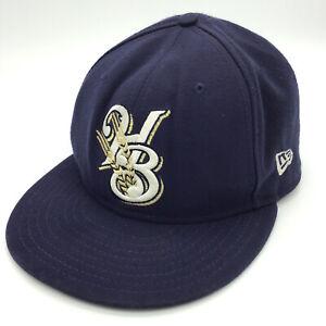 HELENA BREWERS Hat Ball Cap New Era 5950 Size 7 1/8  59Fifty 45290 Baseball