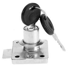 Hardware Steel Safe Drawer Lock Desk Wardrobe Furniture Cabinet Locker+2 Keys