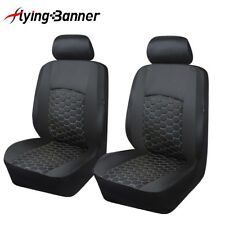 Delux front pair car seat covers PU leather protector embroidery luxious quality