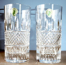 Waterford Crystal IRISH LACE Set of 2 Hiball Highball Glasses 12 oz. New In Box