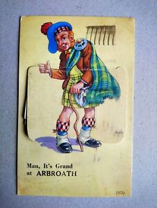 ARBROATH NOVELTY POSTCARD (posted 1950)