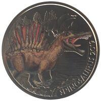3 Euro Spinosaurus 2019 Super Saurier - Dino-Taler-Serie Österreich Dinosaurier