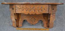 oak shelf drawer wall hanging carved Victorian Edwardian antique original 1890