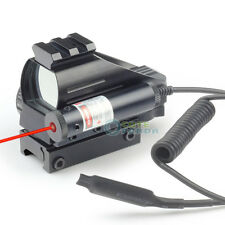 Holographic Red/Green Reflex Scope & Red Laser Sight Combo 20mm Rail 4 Reticles