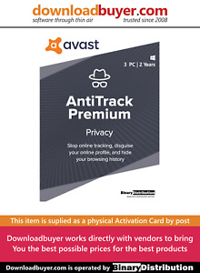 Avast AntiTrack 2021 - 3 PC 2 Years [Activation Card]
