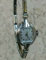 Vintage Caravelle By Bulova M8 7 Jewels Silver Tone MECHANICAL Watch WORKS 6""