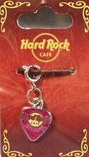 "Hard Rock Cafe HELSINKI GUITAR PICK ""CHARM"" for BRACELET (PINK GLITTER) New!"