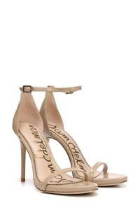 Sam Edelman Ariella Ankle Strap Nude Stilettos Size 10