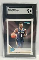 2019 PANINI DONRUSS RATED ROOKIE ZION WILLIAMSON ROOKIE RC #201 SGC 9 MINT
