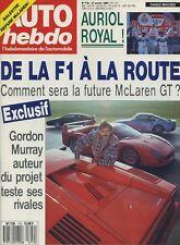 AUTO HEBDO n°712 du 31 Janvier 1990 RALLYE de MONTE CARLO GORDON MURRAY