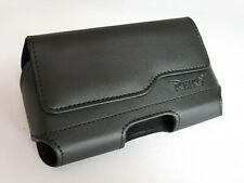 For AT&T HTC One X+ Black Leather Holster Pouch Case Cover Belt Clip
