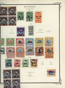 GUATEMALA Scott Specialty Album Page Lot #132 - SEE SCAN - $$$