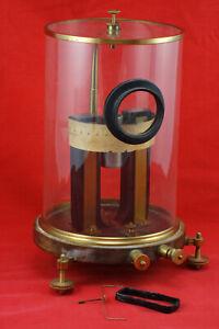 Antique Deprez-D'Arsonval Galvanometer 1882 Jules Carpentier Paris Instrument