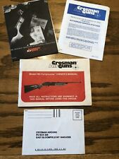 Crossman Air Gun Rifle 760 Pumpmaster Owners Manual And Papers Bb Pellet