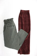 Free People Women's A-Line Skirt Casual Pants Brown Green Size Medium Lot 2