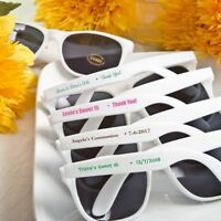 40 Personalized White Sunglasses Wedding Bridal Baby Shower Beach Party Favors