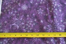 By 1/2 Yd, Silver Lavender Purple Quilting Cotton, Springs/Tis the Season, N307