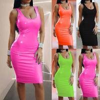 Women Sleeveless Slim Fit Mini Dress Lady Clubwear Bodycon Dress Party Cocktail