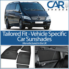 Mercedes Vito 03-14 LWB UV CAR SHADES WINDOW SUN BLINDS PRIVACY GLASS TINT BLACK