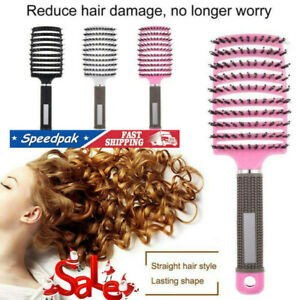 Abody Bristle&Nylon Detangle Hairbrush Women Hair Scalp Massage Comb Brush