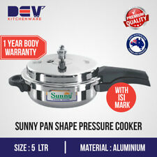 5 Ltrs Sunny Aluminium Pan shape Outer Lid 5 Litres Pressure Cooker 5 L