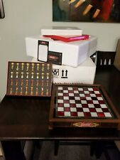 Franklin Mint Coca Cola Stained Glass Chess Set Rare