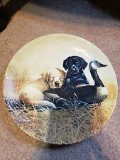 Ducking Duty Plate No. 332C By Lynn Kaatz Labrador Retiever Plate