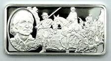 Proof Franklin Mint DANIEL BOONE 500 Grains Sterling Silver #3 1 OZ Ingot