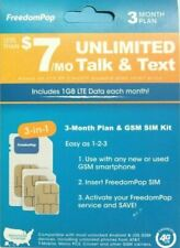 New FreedomPop  3-Month Prepaid Plan - 3-in-1 LTE SIM Kit
