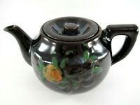 Vintage Hadson Redware Teapot Mid-Century ~ Made in Occupied Japan Hand Painted