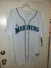 Seattle mariners jersey size 48 majestic white sewn on 30th anniversary