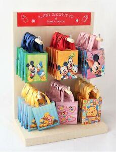 Shopper Disney 65 Mini shoppers di Carta con Espositore in legno Made in Italy