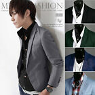 Stylish Men's Casual Slim Fit One Button Suit Blazer Coat Jacket Tops