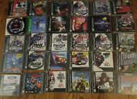 PlayStation Game Lot of 30 Games Orginal ford NHL sherk video Discs tiger woods