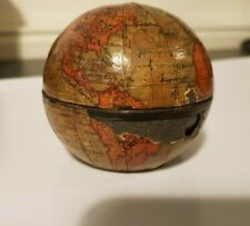RARE 19TH CENTURY TERRESTRIAL POCKET GLOBE AND INKWELL
