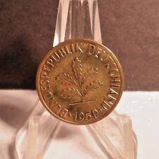 CIRCULATED 1950J 10 PFENNIG WEST GERMAN COIN (53117)1