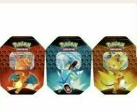 Pokemon Hidden Fates Tins Set of 3 Charizard Gyarados Raichu TCG NEW & SEALED!
