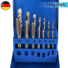 Gewindebohrer Satz M3-M12 Spiralbohrer Set Gewindeschneider  Werkzeuge 15 tlg